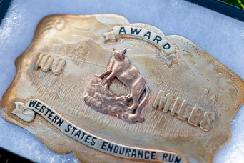 Western States Endurance Run belt buckle